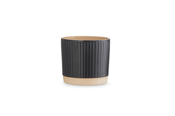 Lotte ceramic flowerpot by H. Skjalm P. - Black/11 cm