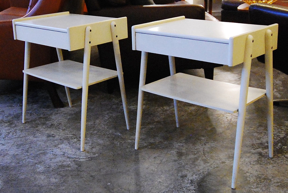 Matching pair of bedside tables