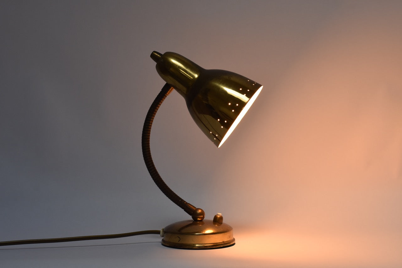 1950s brass table lamp