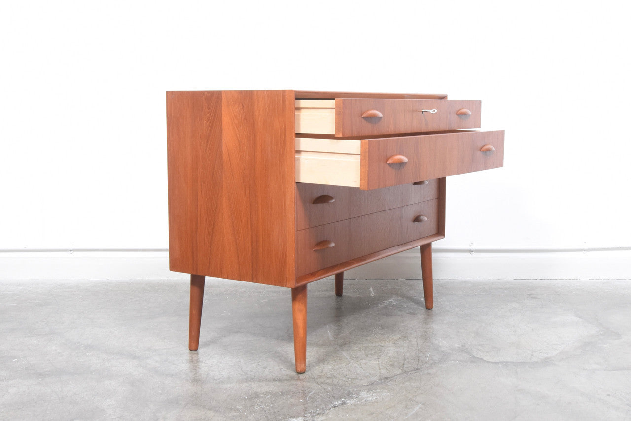 Low chest of four drawers by Bornholms