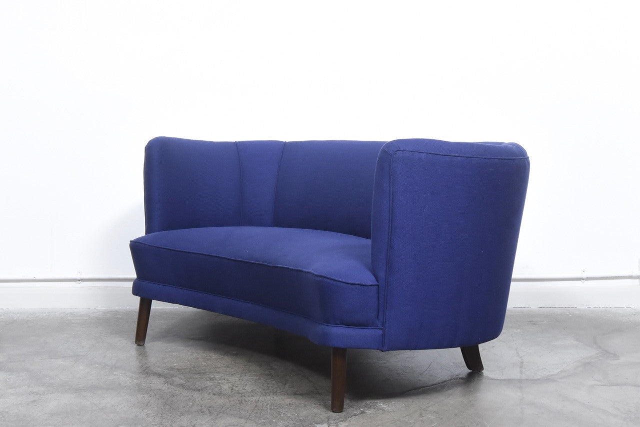 Not specified Danish two seater with vintage Kvadrat wool fabric