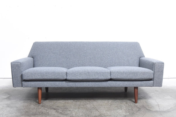 1960s three seater with new upholstery chase sorensen for Scandinavian furniture london