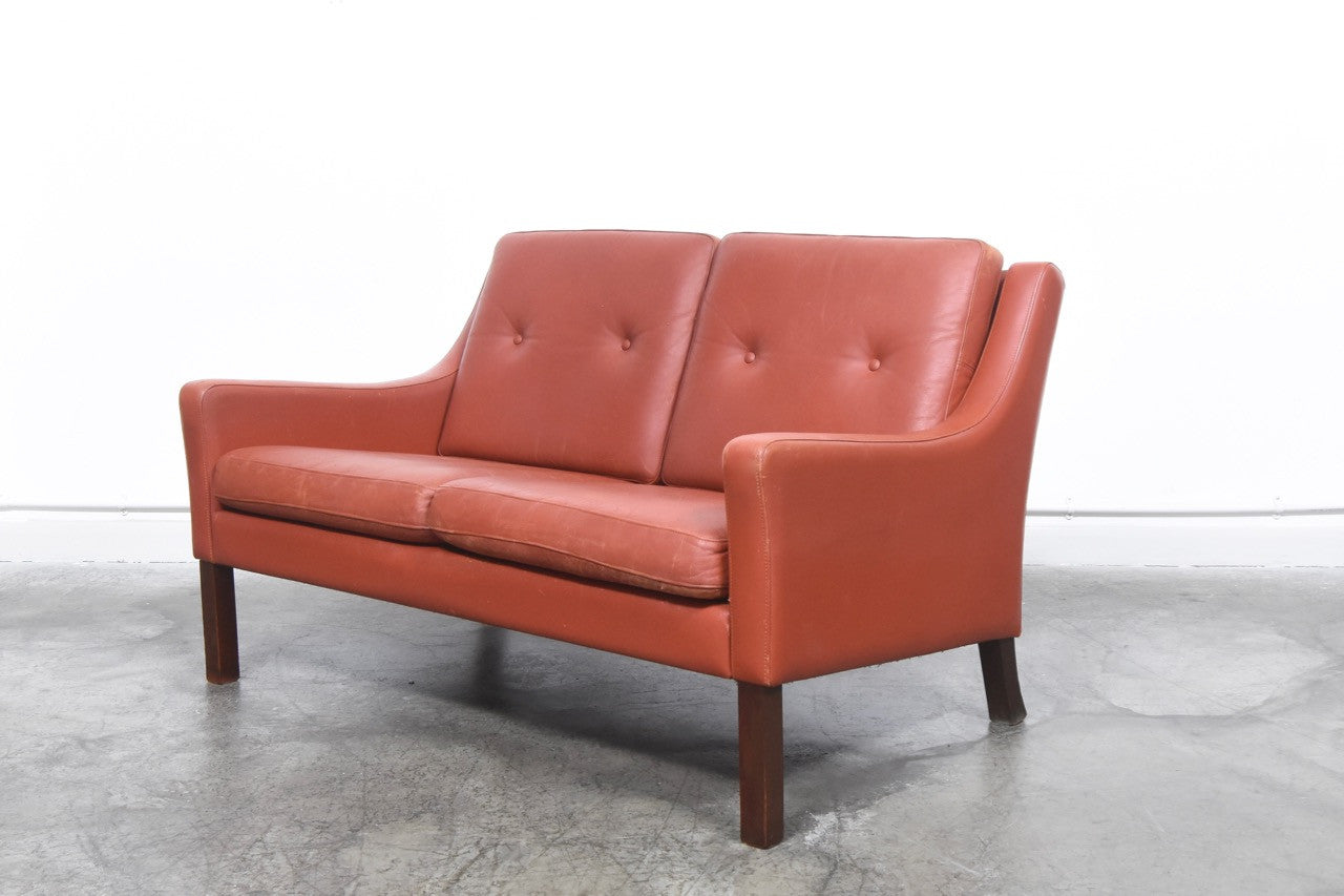 1960s two seater in leather