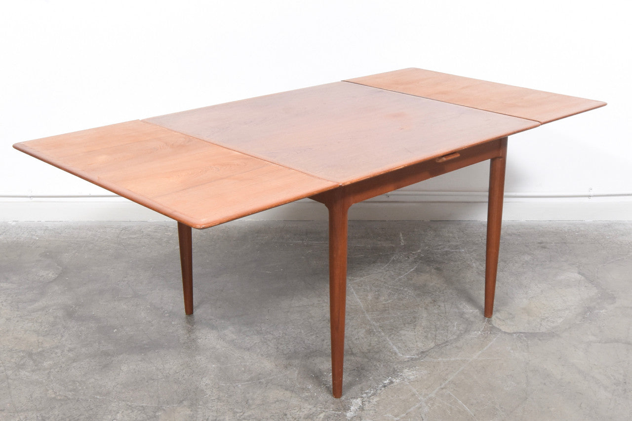 PrebenFeb16 Extending square dining table in teak