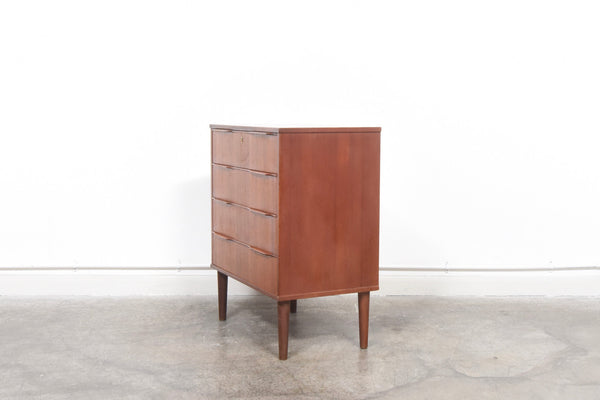 Chest of four drawers with lipped handles chase sorensen for Scandinavian furniture london