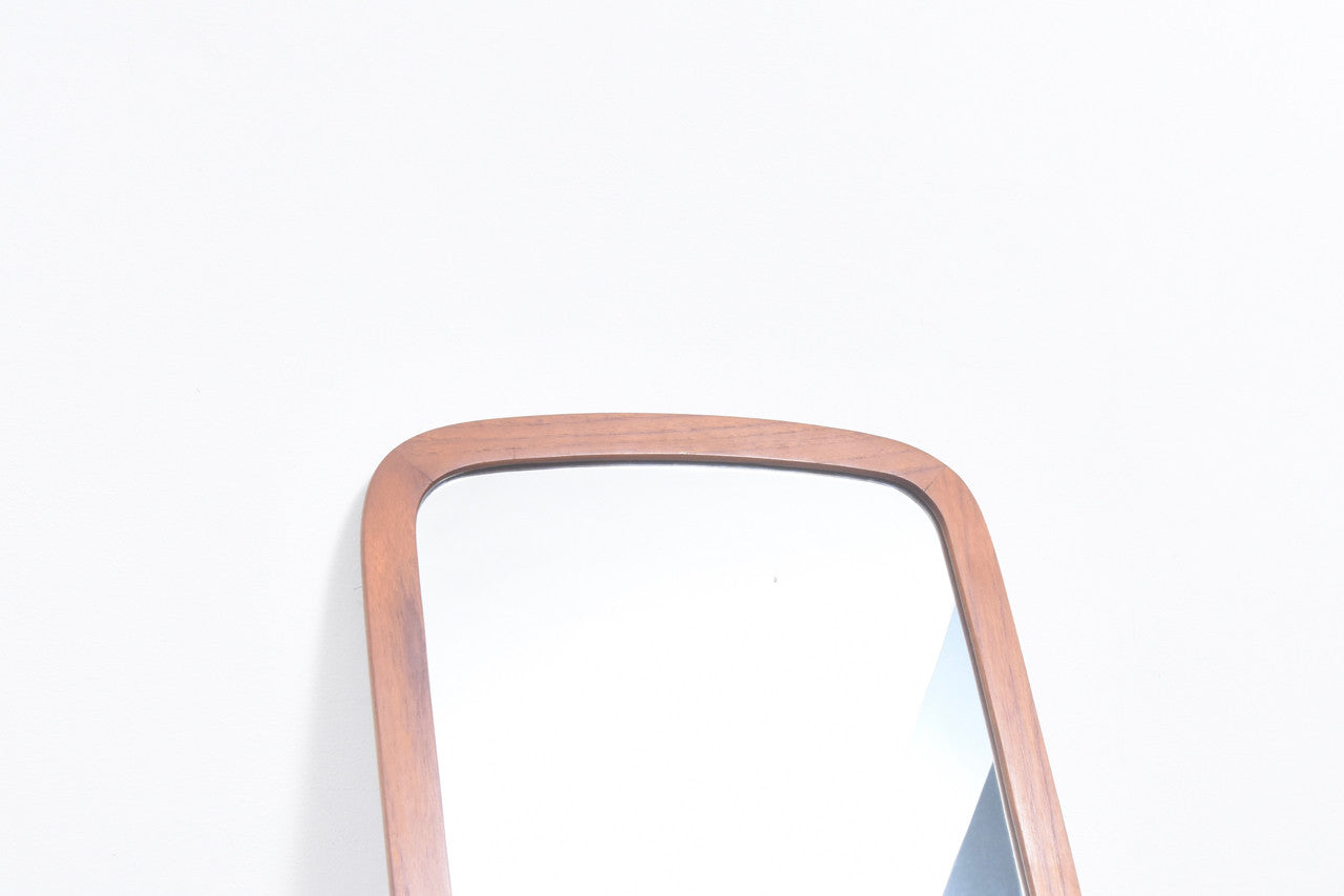 Full length mirror with teak frame