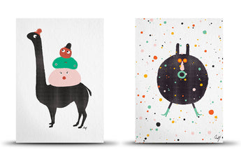 A5 art prints by Studio Arhoj - Llama/Party God