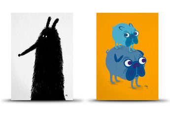 A5 art prints by Studio Arhoj - Sniffles/Mabel & Me