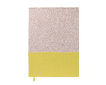 Pack of two Splash tea towels by Nomess- Pink/Yellow