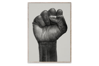 Raised Fist illustration by Børge Bredenbekk - 30 x 40 cm