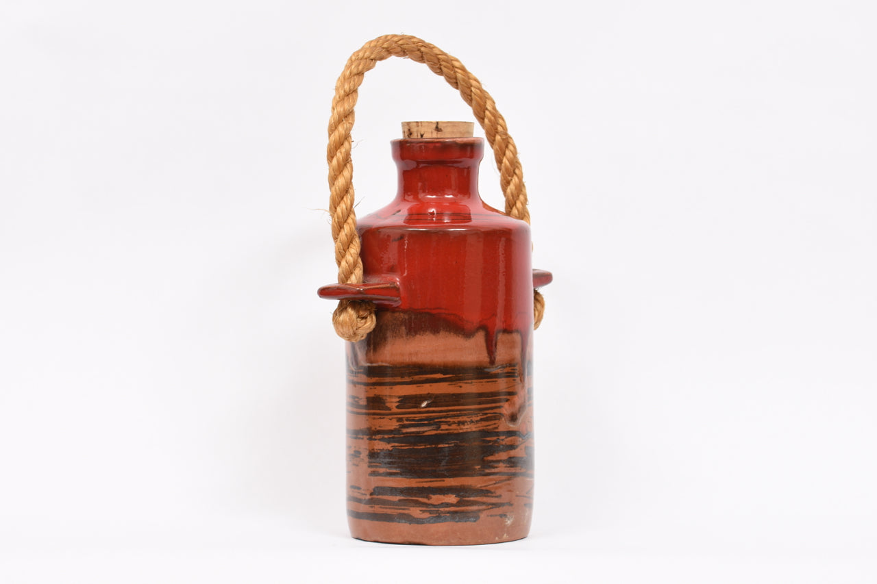 MichaelSeptember17 Stoneware jug with cork lid and rope handle