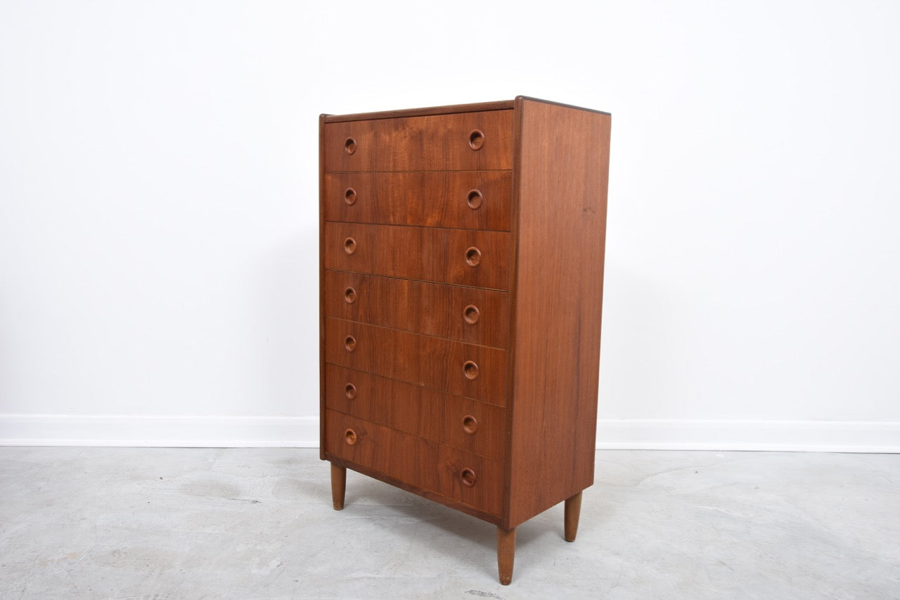 Chest of seven drawers in teak