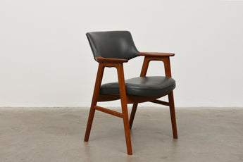 Teak + leather armchair by Erik Kirkegaard