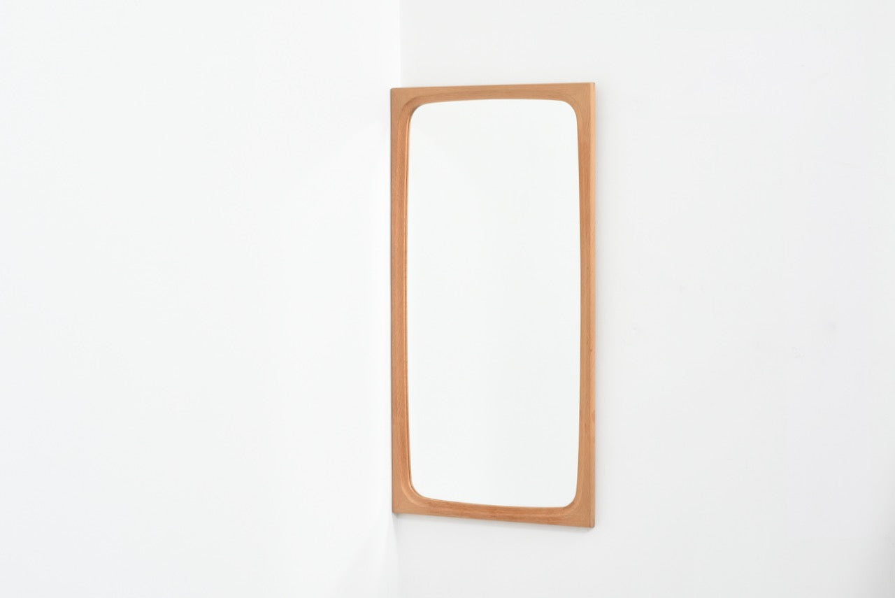 1960s Danish oak mirror