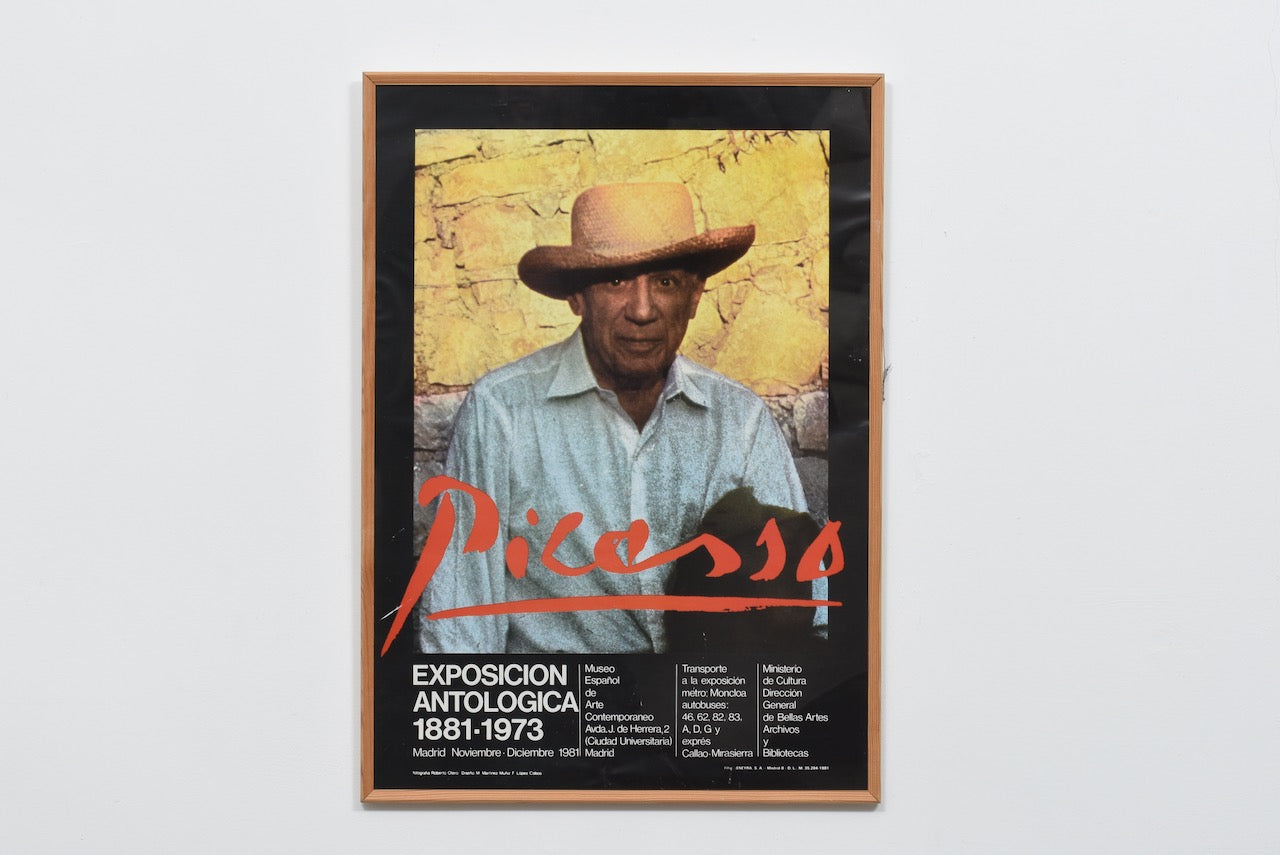Early 1980s framed exhibition poster