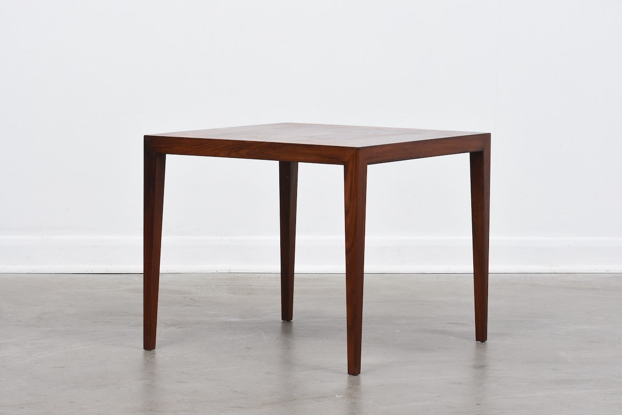Square rosewood table by Haslev