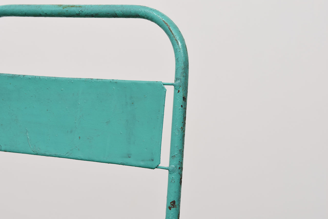 Five available: Vintage metal stacking chairs