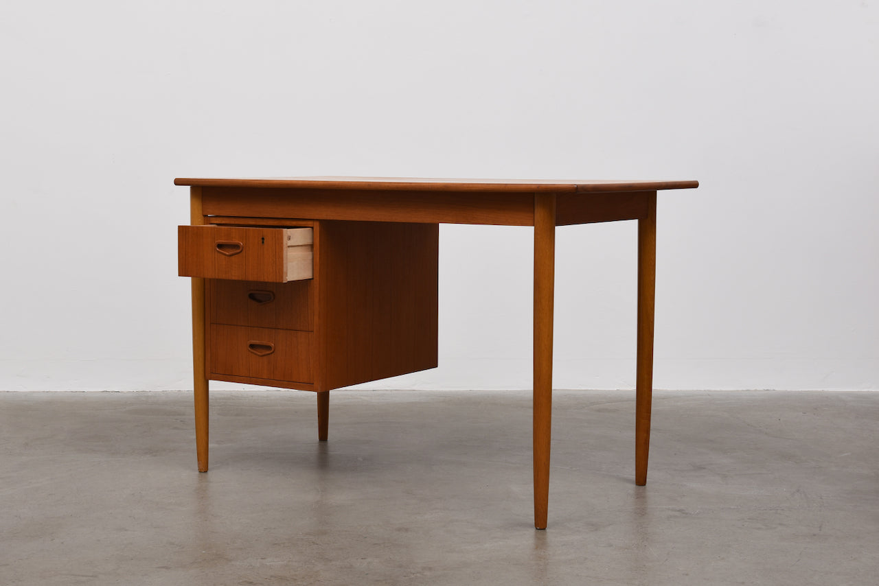 1960s Swedish desk in teak and oak