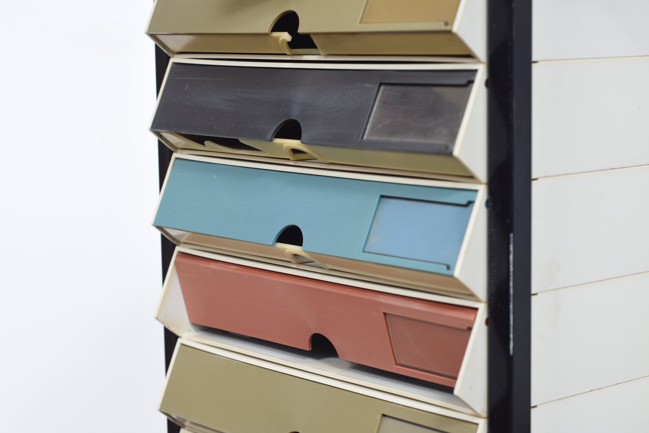 LeneMay18 1970s metal filing cabinet with melamine trays