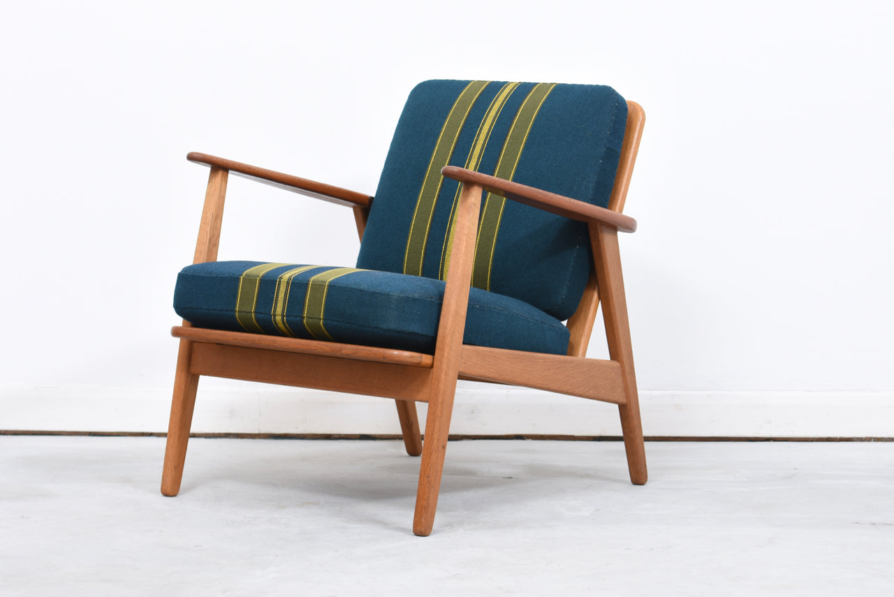 1950s teak + oak lounge chair