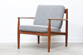 Teak lounge chair by Grete Jalk with new upholstery