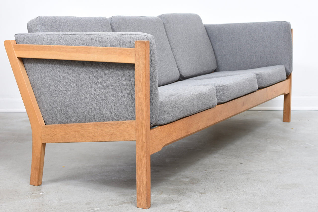 LeneMay18 1970s oak three seat sofa