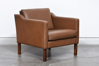 Vintage Danish leather club chair