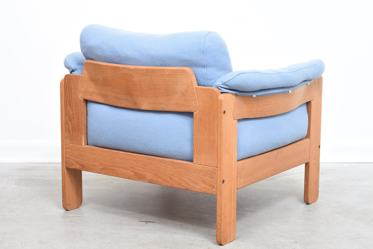 1970s oak lounge chair by N. Eilersen