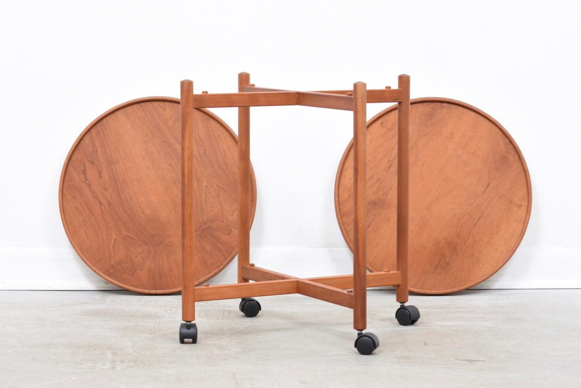 1970s teak drinks trolley