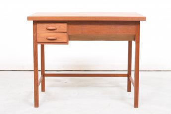 Teak desk with two drawers