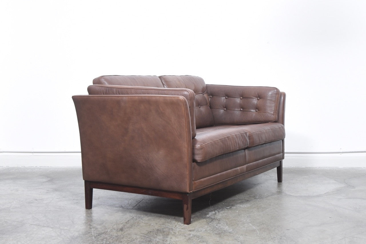 PrebenMay2017 Danish two seat leather sofa