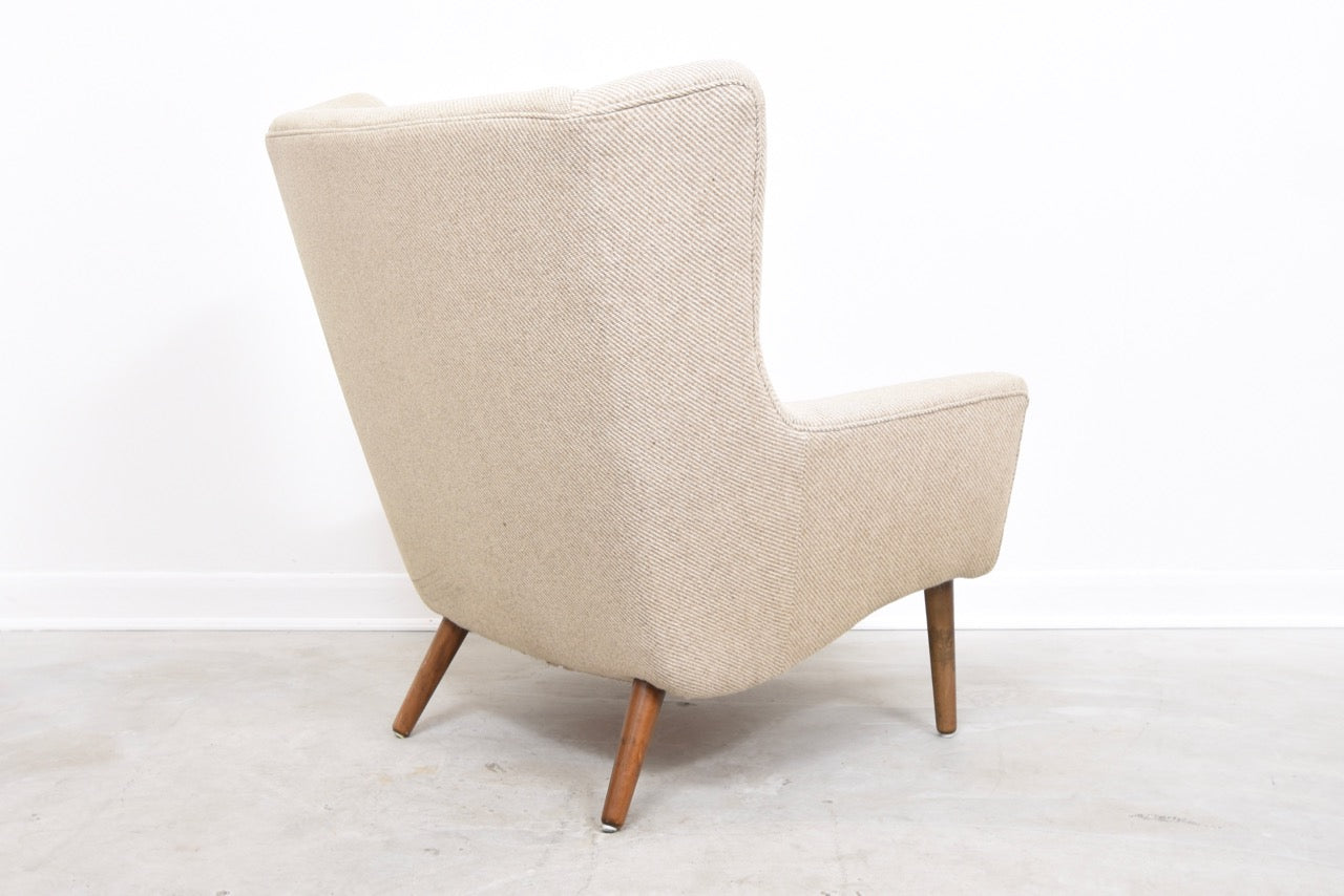 High back wool lounger