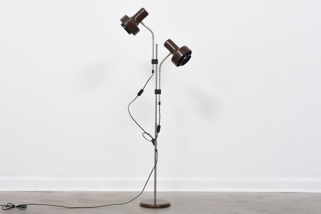 1960s twin-headed floor lamp by Hans-Agne Jakobsson