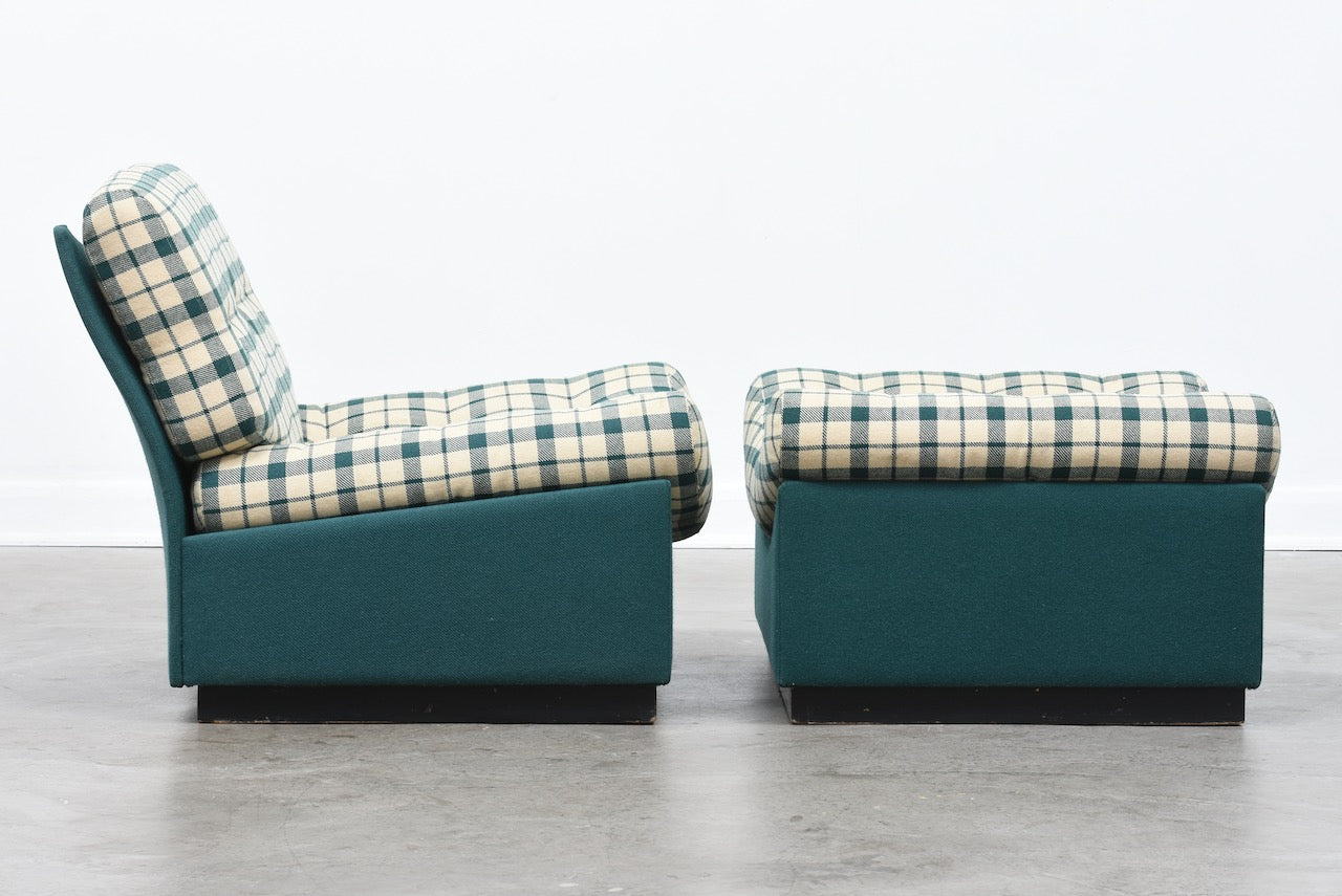 Cubus lounge chair and ottoman by Rud Thygesen + Jonny Sørensen