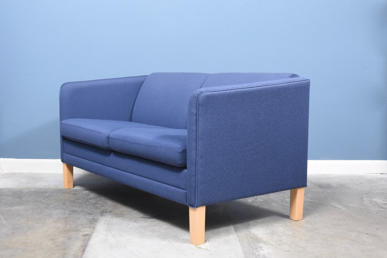 Blue wool two seater