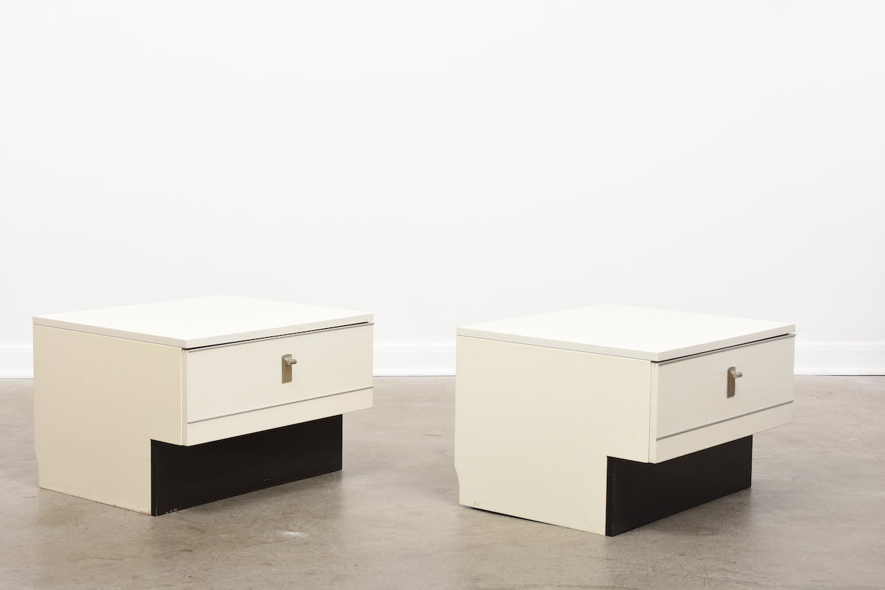 Pair of 1980s bedside tables by DUX