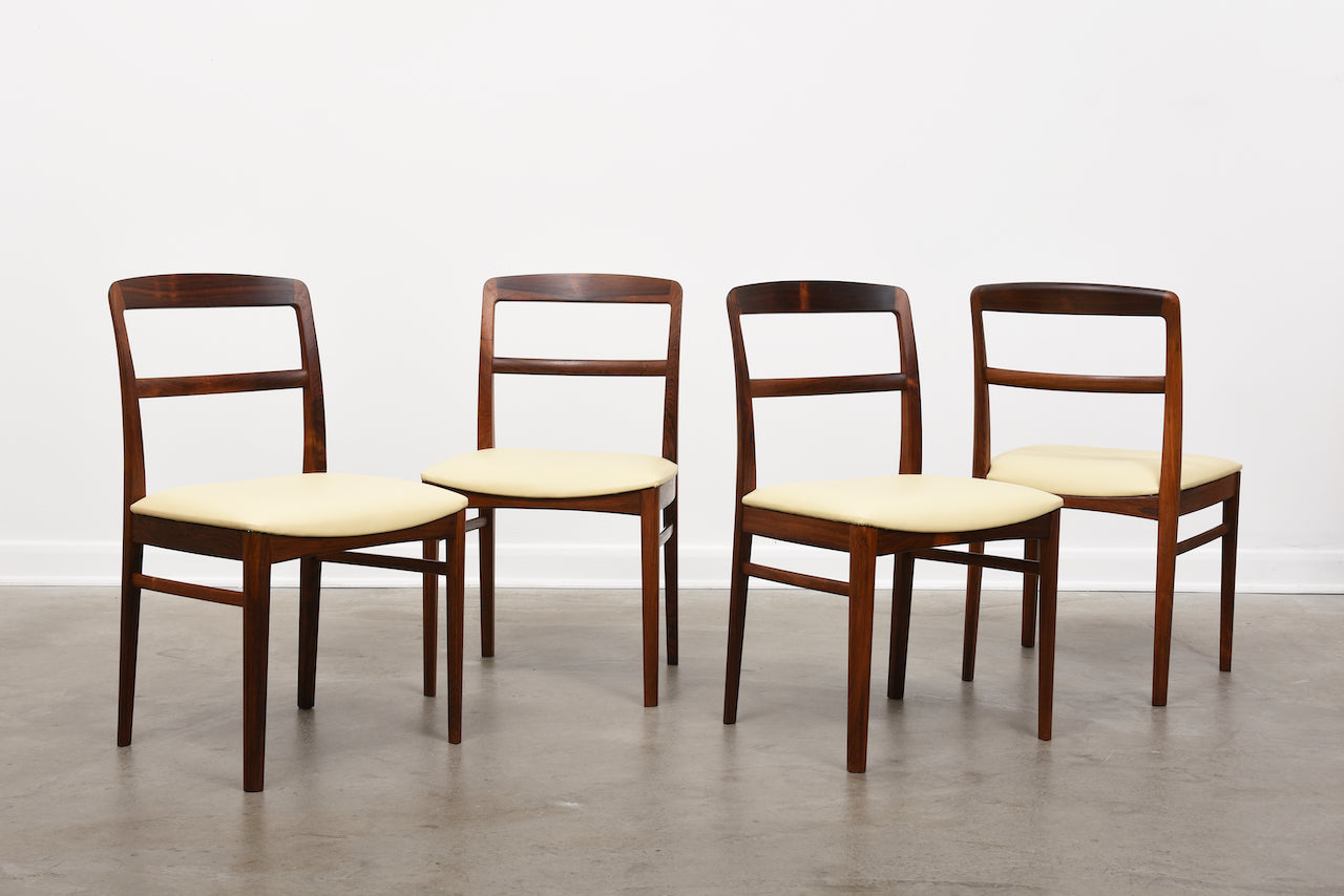 Set of four 1960s rosewood dining chairs