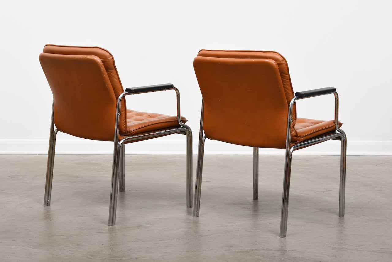Two available: 1960s armchairs by Kinnarps