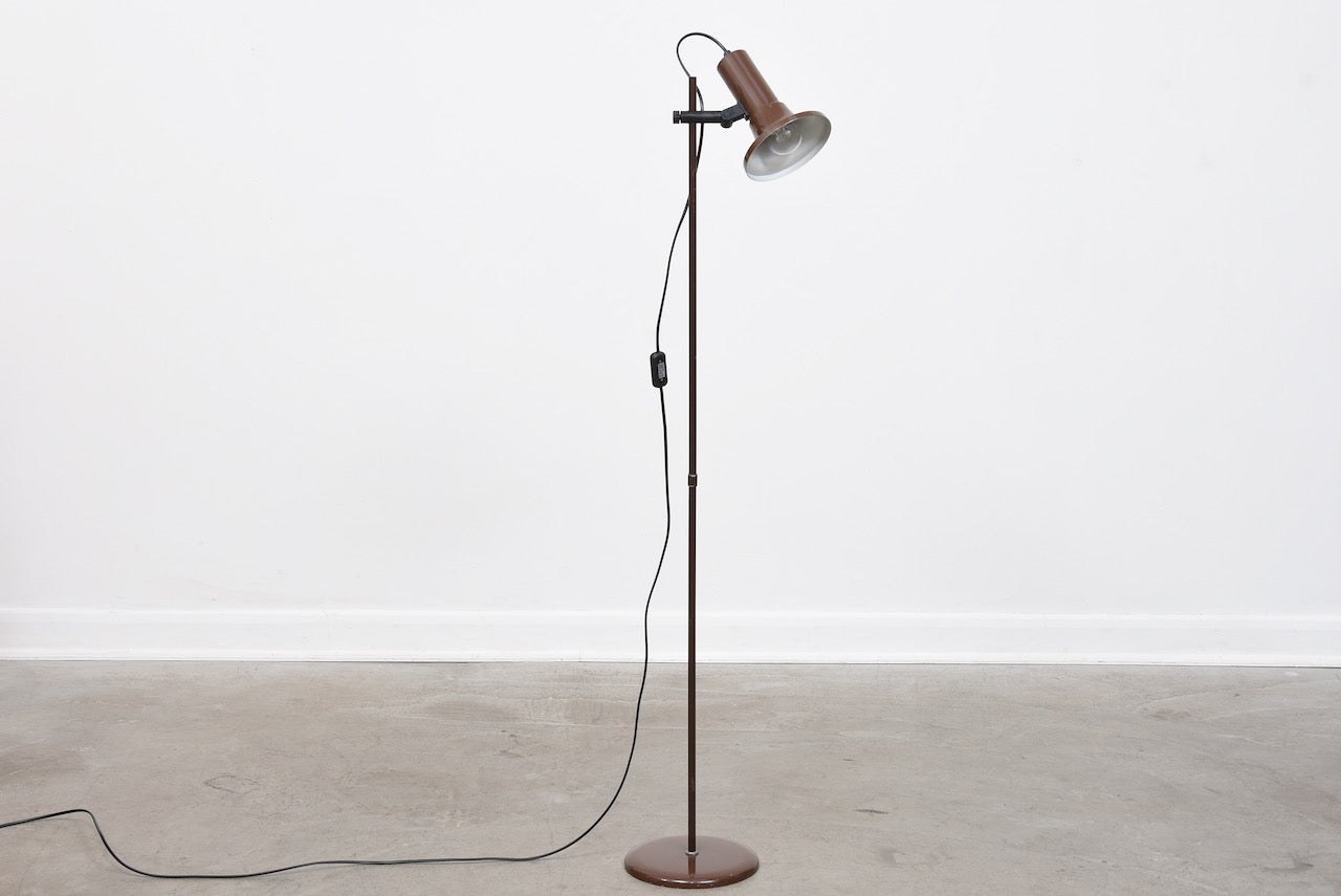 Vintage Danish floor lamp with brown finish