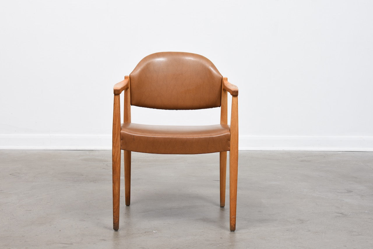 1960s Swedish oak armchair