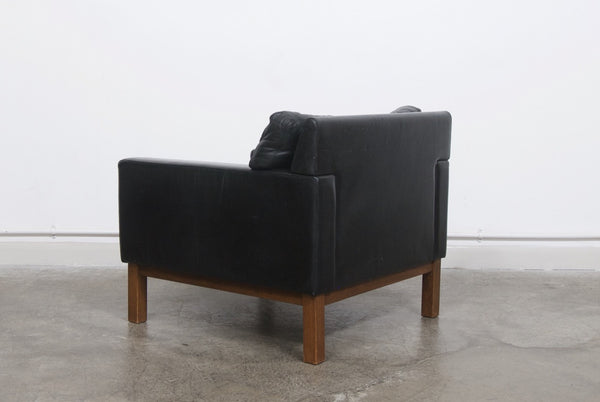 Leather lounger by peem chase sorensen for Scandinavian furniture london