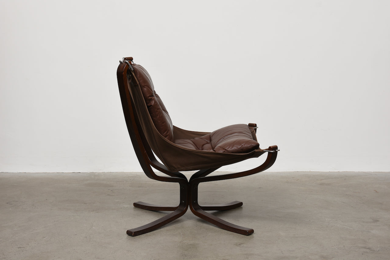 1970s Falcon chair by Sigurd Ressell