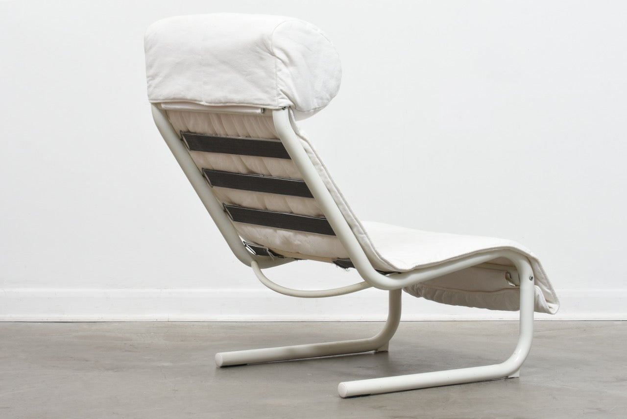 1980s Swedish metal + canvas chair