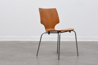 Eight available: 1970s Danish stacking chairs