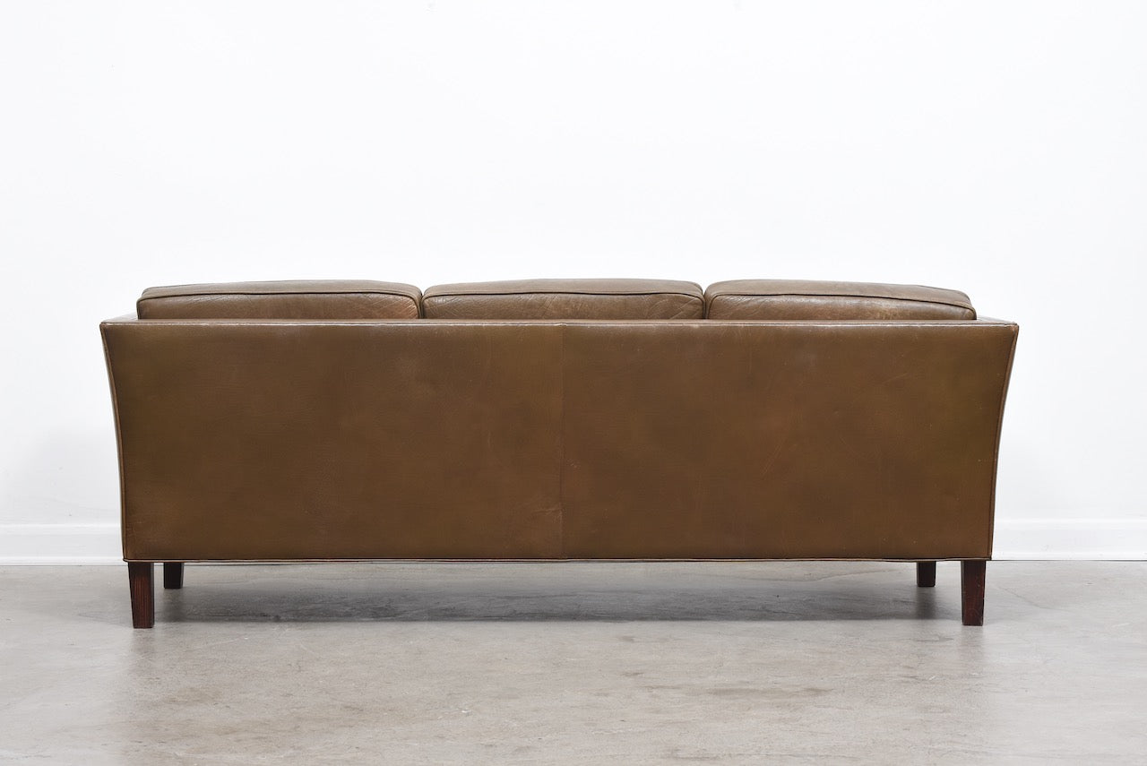 1960s leather sofa by Arne Norell
