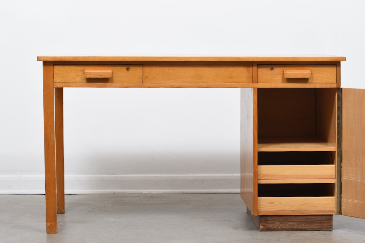 1950s Swedish birch desk