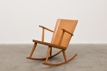 1940s Swedish pine rocking chair by Göran Malmvall