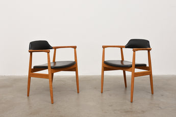 Two available: 1960s Swedish oak armchairs