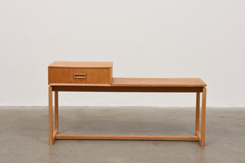 1960s oak telephone bench no. 1