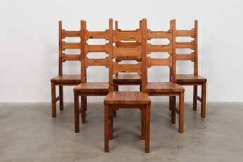 Set of six dining chairs by Roland Wilhelmsson